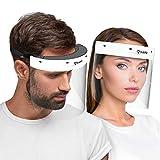 Hard 1x Visiera protettiva per il viso, protector facial profesional con 2x...
