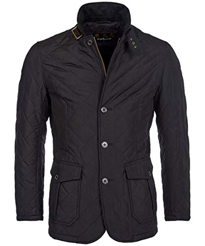 Barbour BACPS1172-MQU Quilted Lutz Jacket Giacca Trapuntata Uomo Blu Navy Winter Impermeabile (L, Blu Navy)