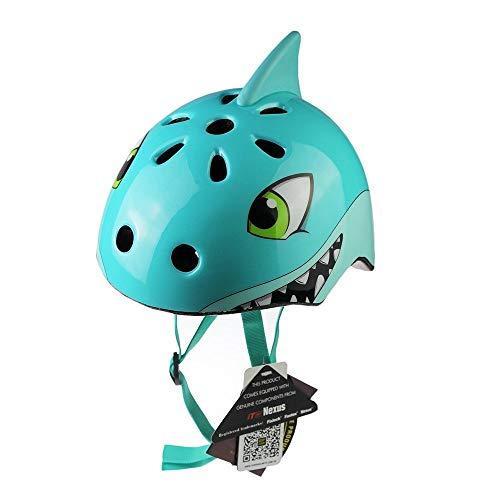 AOAVE Casco Bicicleta, Dibujos Animados Niños Protección Casco de Seguridad para 3-12 Años Peso Ligero Transpirable para Bicicleta/Patineta/Scooter/Patinaje/Rodillo Blading