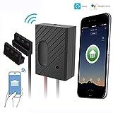 Smart Wi-Fi-Schalter Garagentüröffner, Garage Tor Controller sperren, Smartphone Fernbedienung Timing-Funktion Sprachsteuerung Kompatibel mit Alexa, Google, Siri, IFTTT