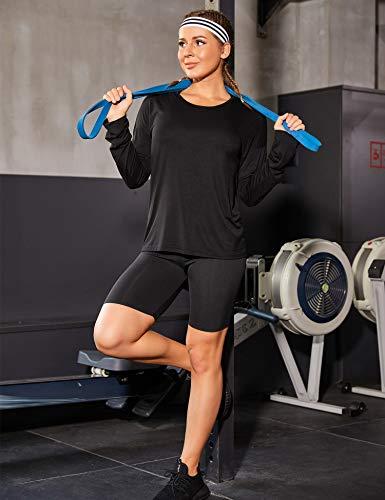 Zeagoo Women Open Back T Shirt Long Sleeve Backless Modal Tees Active Workout Racerback Tops Blouse (Black, Small)