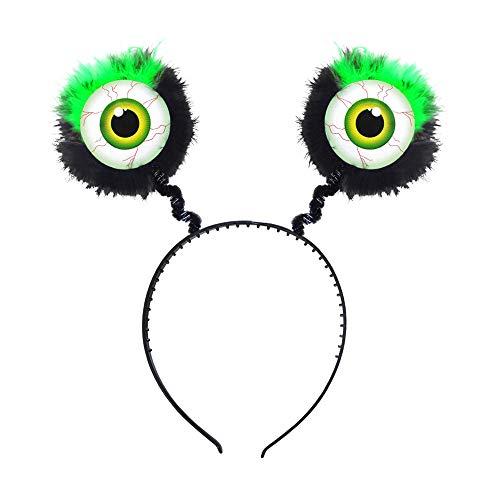 Widmann 09685 - Haarreif mit Augen und Federn, Accessoire, Monster, Mottoparty, Karneval