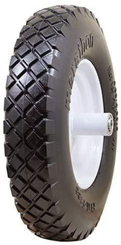 National Standard Universal Fit, Flat Free Wheelbarrow Tire (Black)
