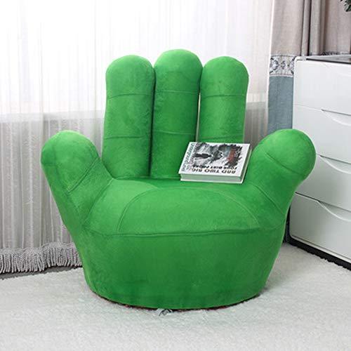 CRRQQ Kinder-Sofa-Stuhl, Baseball-Handschuh-geformte Finger-Art-Kleinkind-Sessel-Wohnzimmer-Sitz, Kindermöbel Fernsehstuhl / (35.4x13.8x33.5inches / 27.6x11.8x25.6inches