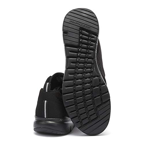 Skechers Women's Flex Appeal 3.0-go Forward Trainers, Black Black Leather Mesh Trim Bkw, 5 UK