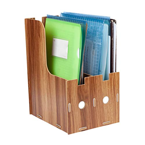 Ordinatore di documenti in legno A4 Organizzatore di documenti Scatola di smistamento per file di ufficio Documenti Lettere Mail Riviste Libri Opuscoli Cataloghi