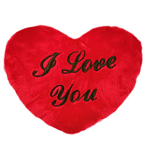 Unbekannt Cojín de Peluche con Forma de corazón de I Love You