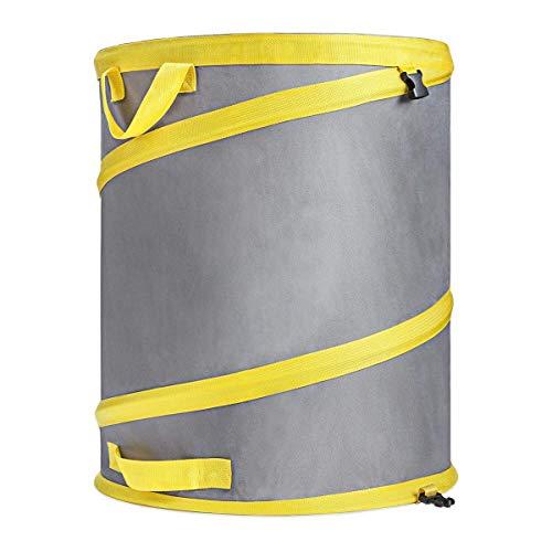Jardineer 30 Gallon Collapsible Garden Bag/Trash Can - Reusable Leaf Bag - Pop Up Yard Waste Bag Container/Leaf Bin