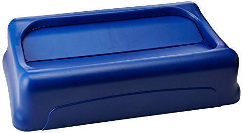 Rubbermaid Commercial Products FG267360BLUE Slim Jim Schwingdeckel, Blau