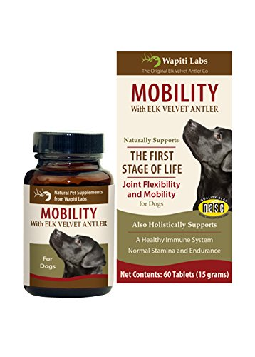 Wapiti Labs 60 Count Dog Mobilty with Elk Velvet Antler Tablets