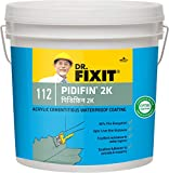 USP: Dr. Fixit Pidifin 2K is a high performance flexible waterproofing membrane, which gives a waterproof coating for your bathrooms, kitchen, small roofs, balconies, terraces, wet areas, chajjas, sloping RCC roofs, and basements. Its a two-component...