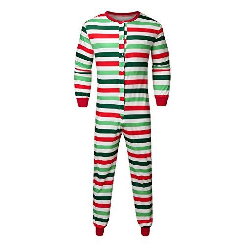 AmyGline Weihnachten Familie Outfit Pajamas Overall Jumpsuit Onesie Einteilige Schlafanzüge Strampler Pyjama Romper Familie Passende Kleidung Nachtwäsche Für Damen Herren Kinder