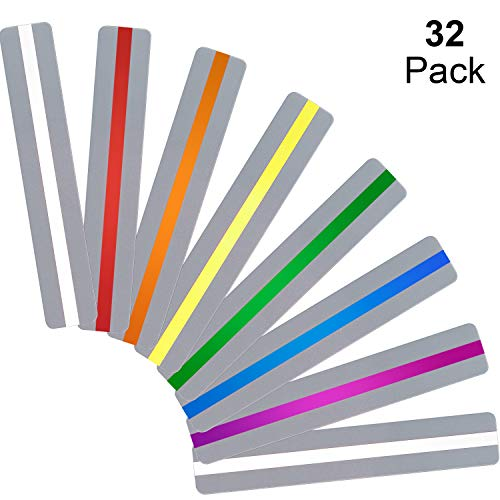 32 Pieces Guided Reading Strips Highlight Strips Colored Overlays Colorful Bookmark - Helps with Dyslexia for Children and Teacher Teaching (Mixed Colors)