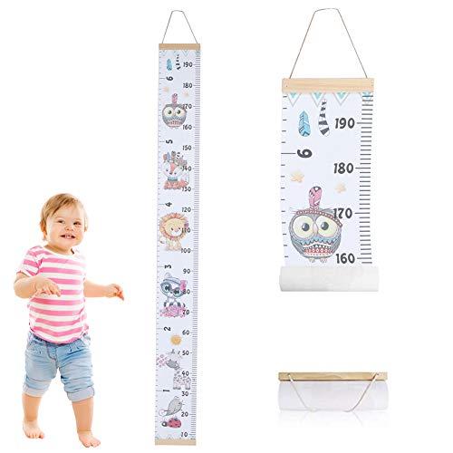Zerodis Kinder Messlatten Kinder Höhe Maßnahme Wachstumstabelle Tragbare Nette Wandaufkleber Home Raumdekoration für Kleinkinder Babys(#4)