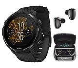 SUUNТО 7 Black GPS Sports Smartwatch with Wearable4U Earbuds Power Bundle