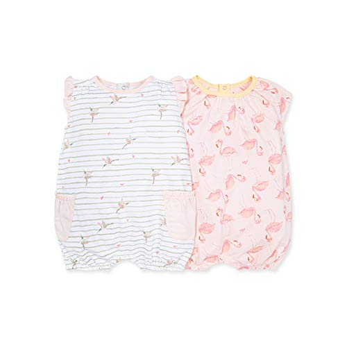 Product Image of the Burt's Bees Baby Baby Girls Rompers, Set of 2 Bubbles, One Piece Jumpsuits, 100%...