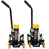 Omega Lift 22 Ton Jack Stands - Pin Style Stand with Heavy Duty Welded Steel - 4-Caster Spider Design with Handle for Easy Positioning - Extra Safety Great for Auto Repair Garage Shop - Pair