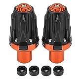 KIMISS 1 * par de Protectores deslizantes de marco universales Anticaídas de la Motocicleta(naranja)