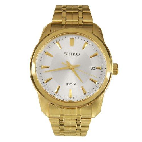 Seiko SGEG74P1 SGEG74 - Reloj para Hombres, Correa de Acero Inoxidable Color Dorado