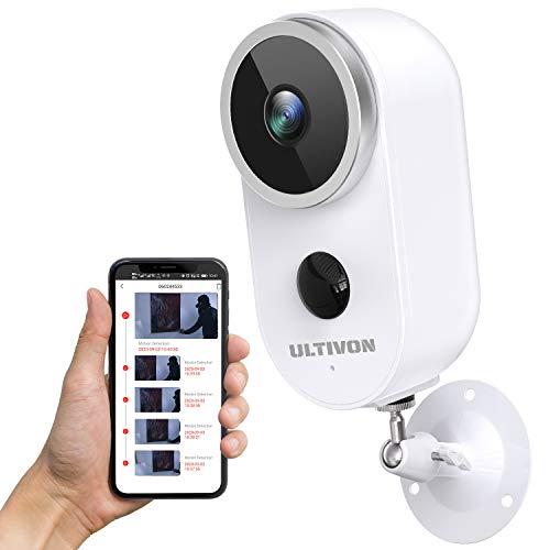 Cámara Vigilancia Exterior WiFi con Batería Recargable Inalámbrica, Ultivon A4 Cámara IP...