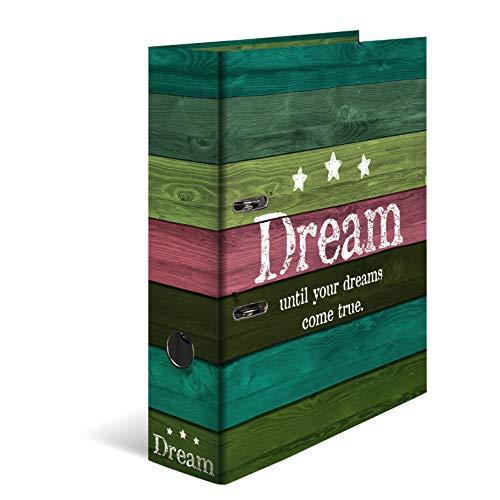 HERMA 7183 Motiv-Ordner DIN A4 Woody Dream, 7 cm breit aus stabilem Karton mit Holzoptik Innendruck, Ringordner, Aktenordner, Briefordner, 1 Ordner