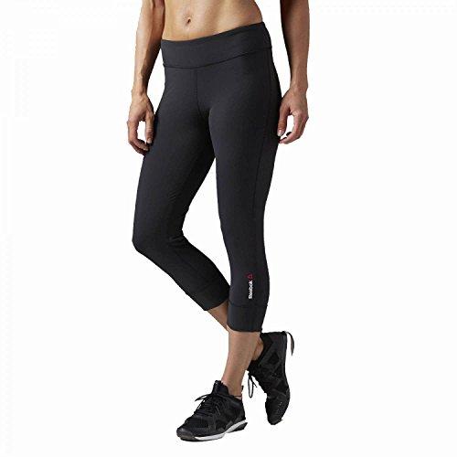 Reebok Damen Nylux Sporthose, Black, XS