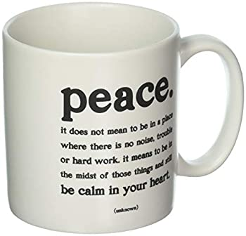 Quotable Cards Quotable Peace mugs with inspirational quote 1 EA White