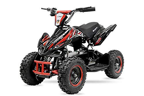 800W 36V Eco Python Kinderquad Quad Mini Atv Pocketbike Dirt Nitro Motors (Blau)