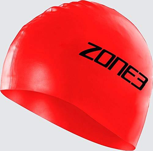 ZONE3 Bonnet de Bain en Silicone pour Homme – 48 g – Rouge, Taille Unique