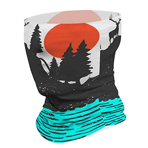 Yilooom Island in The Middle of Sea, Seamless Face Mask Bandanas, Unisex Face Scarf for Outdoor Dust Wind Sun Protection