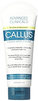 Advanced Clinicals 8oz Callus Cream Best Foot Cream for Callus and Rough Spots for Rough Dry Skin on Feet Hands Elbows 8oz.