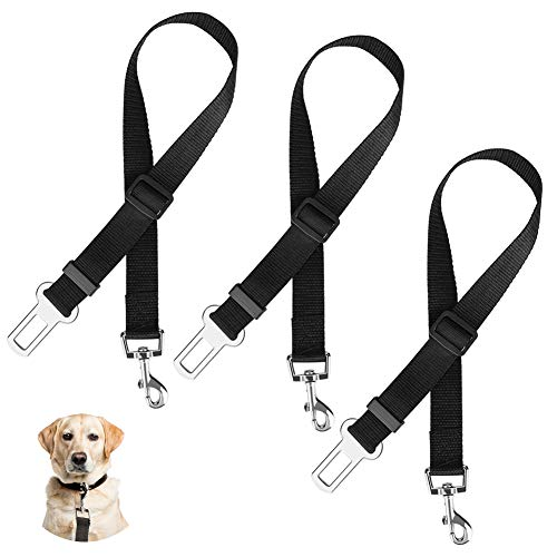 HOSPAOP Auto Hunde Sicherheitsgurt, Hunde Sicherheitsgurt, Universal Hunde Sicherheitsgurt, Einstellbar Hundegurt mit Elastischer Ruckdämpfung und Starke Karabiner für Alle Hunderassen und Autotypen