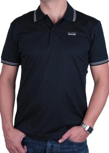 Roberto Cavalli Hombre Polo Camisa Muchos Coloros (Medium, Negro)