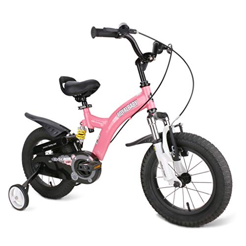 Children Bicycle Boy Girl Scooter Indoor Exercise Bike Outdoor Bike Student Bicycle 12/14/16 Inches 3-18 Years Old Children'S Bicycle Best Gift Birthday Surprise ( Color : Pink , Size : 12inch )