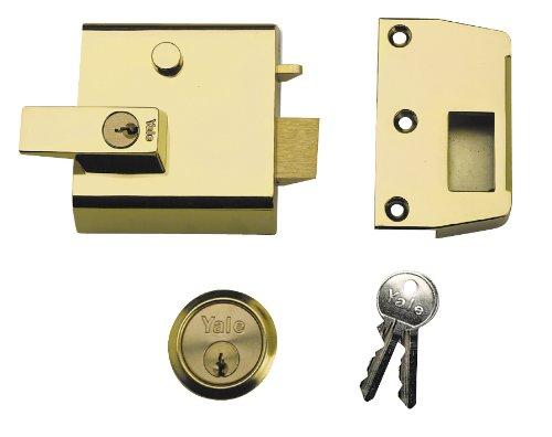 Yale Locks P1 Visi Brasslux Verrou de sûreté double entrée 60 mm