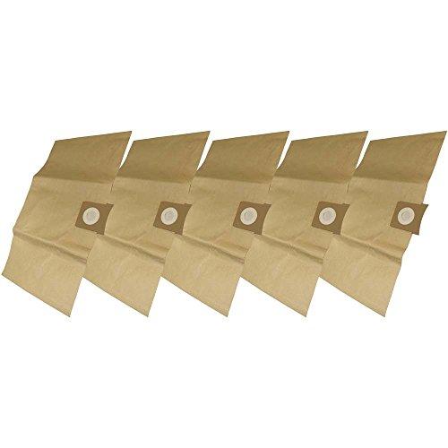 5 Industrie- Baustellen- Gewerbe- Heavy Papier Staubsaugerbeutel passend für Aqua Vac PRO 70 / 100 / 200 / 210 / 240 / 250 / 2000, 6.904-051 / 6.904-263