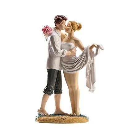 Couple de Mariés sur la plage - Figurine Résine Mariage Decoration - 516
