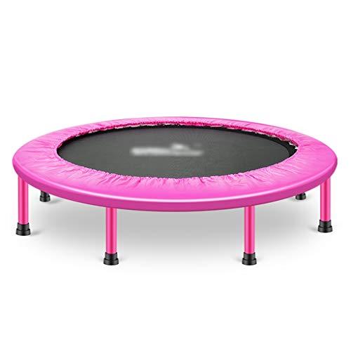 WeiLuShop Cama Elástica Cama Elástica Plegable Mini Trampolín Trampolines De Fitness For Adultos Trampolín Cubierto Aptitud Rebounder (Color : Pink, Size : 50 Inch)