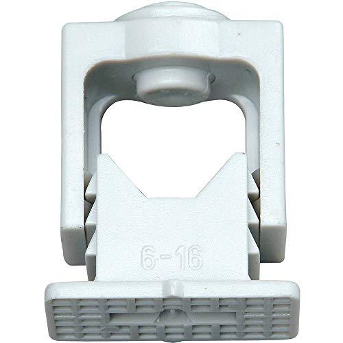 Kopp 341704089 Greif-Iso-Schellen 6 - 16 mm, mit Klemmschraube, 10 Stück, grau