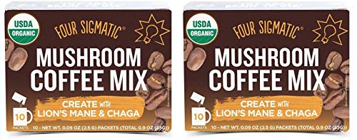 Four Sigmatic Mushroom Coffee Mix with Lion's Mane and Chaga 2 Pack...