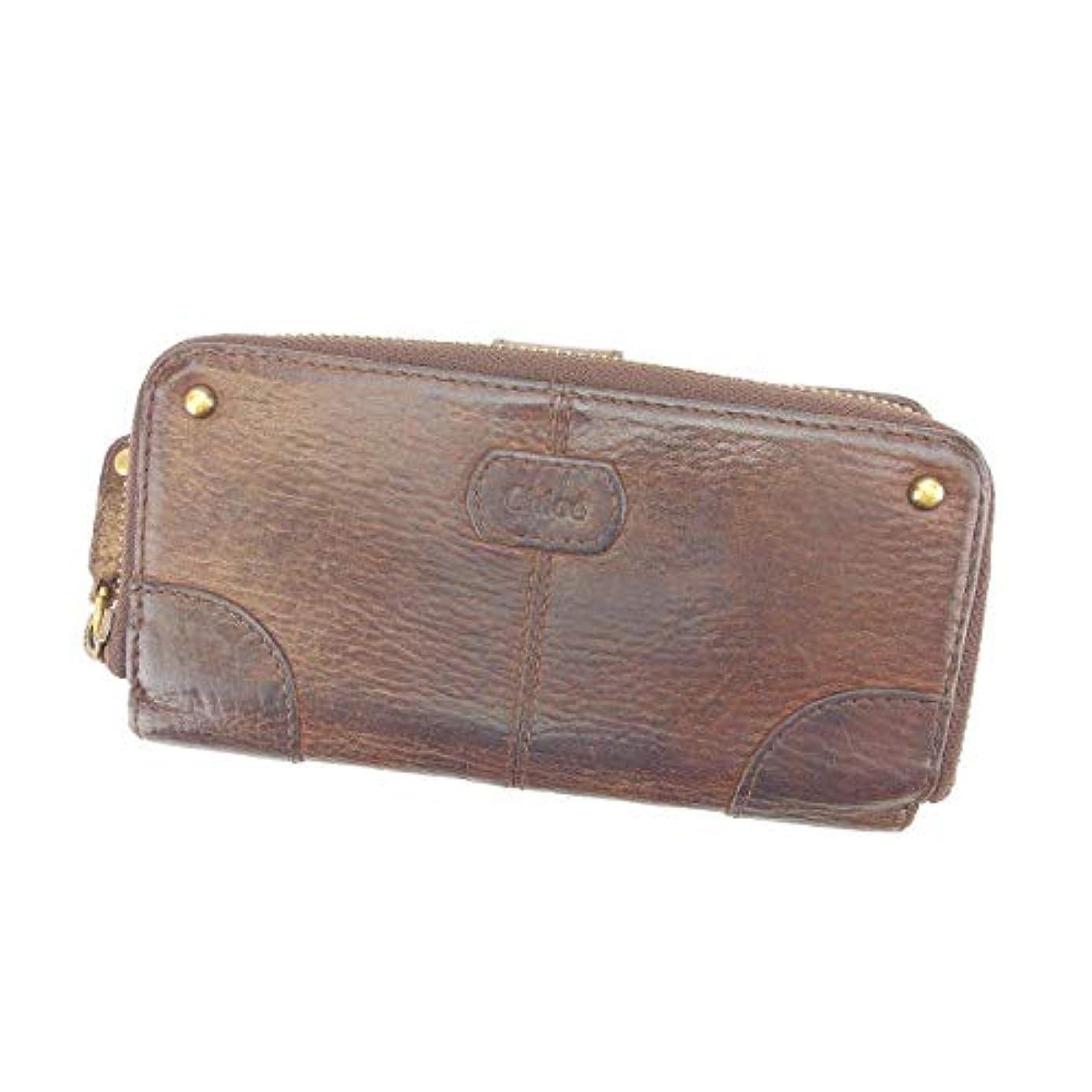拳輝く商品(Chloe) クロエ 長財布 ラウンドファスナー財布 男女兼用 スタッズ 中古 L859