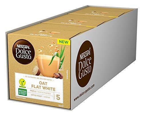 NESCAFÉ Dolce Gusto Oat Flat White, 36 Kaffeekapseln (vegan, mit Haferdrink), 3er Pack (3 x 12 Kapseln)