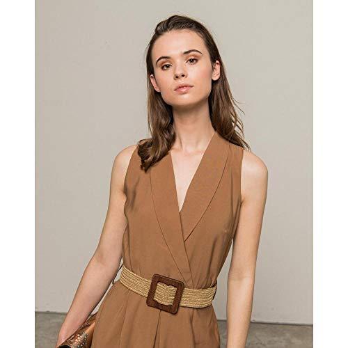 Silvian Heach Dress Wuida Vestito, Marrone (Cathay Sp. Cathay Sp.), Medium (Taglia Produttore:M) Donna