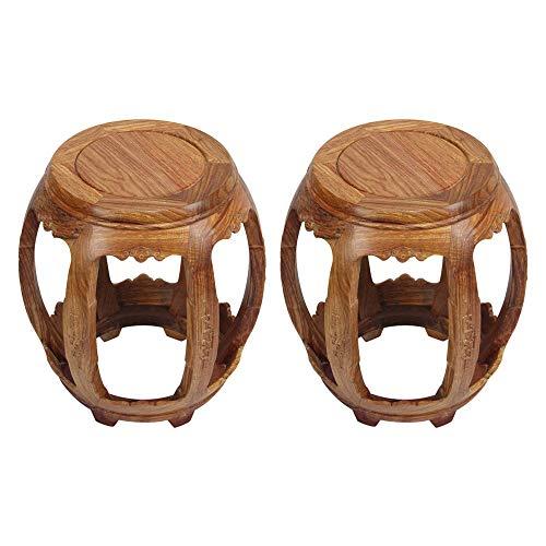 Taburete de bar 2PCS, taburete de tambor de palisandro, taburete de balcón para sala de estar, sofá chino para el hogar, taburete bajo de mesa de café, banco/B / 29×44.5