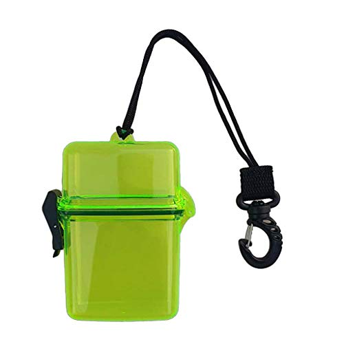 koolsoo Waterproof Dry Container Storage Box Diving Boating Fishing Surfing Scuba - Transparent Yellow