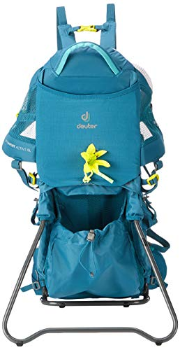 DEUTER Damen Kid Comfort Active SL Kindertrage, Denim, 70 x 43 x 34 cm, 12 L