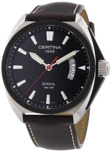 Certina Herren-Armbanduhr XL DS Royal Analog Quarz Leder C010.410.16.051.00
