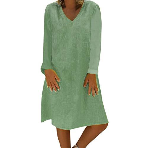 Dorical Damen Weihnachten Outfit Schwarz Minikleid Wickelkleid Heiligabend Kleidung Schicke Elegant Casual Schicke weihnachtskleider Vintage Kleid Damenkleider Weihnachts (XXX-Large, Z10-Armeegrün)