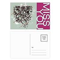 抽象的なデザインパターンのグラフィティストリート ポストカードセットサンクスカード郵送側20個ミス