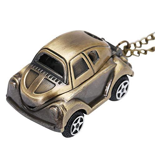 LXDDP Schöne süße Auto Form Quarz Taschenuhr Retro Bronze Halskette Uhr Geschenke für Kinder Jungen Geburtstagsgeschenke